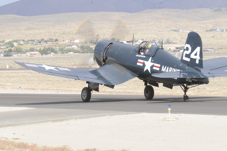 2nd Place, 321.549 mph, Race #24, 4FU-4 Cosair