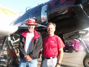 "Owner Mike Keenum, Pilot ""Hoot"" Gibson"