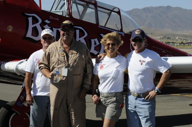 """T-6 Pilot Joey """"Gordo"""" Sanders & Crew of Race #5 Big Red"""