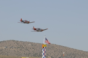 "T-6 Race #69 ""Eros"", Pilot Lee Oman & Race #26 ""Happy Hour"", Pilot Jim Thomas"